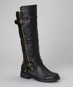 Take a look at this Black Vivienne Boot on zulily today!