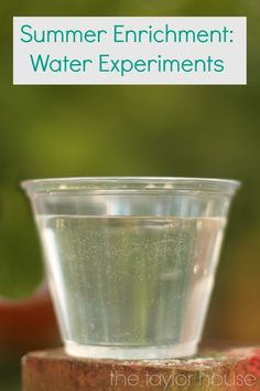 water experiments for this summer! Kids will love these!