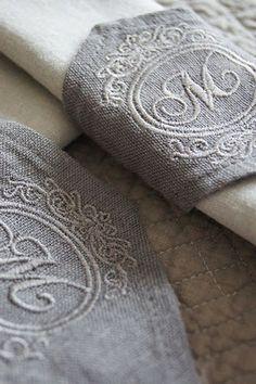 monogrammed napkin rings