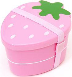 cute japanese pink strawberry Bento Box lunch box