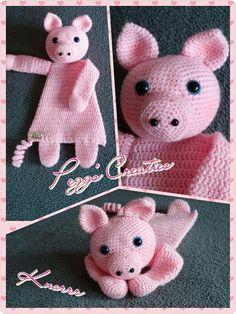 Lappenpop Crochet Lovey, Crochet Baby Toys, Crochet For Kids, Crochet Animals, Knit Crochet, Knitted Dolls, Crochet Dolls, Crochet Crafts, Crochet Projects