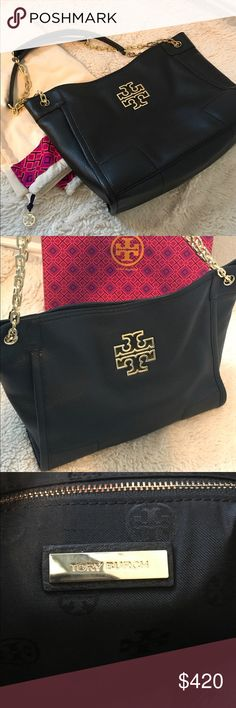 👜Tory Burch 👜 Very well taken care of bag. Used a few times and decided it wasn't for me. No scratches, no stains interior or exterior of the bag, no flaws, nothing. Excellent condition. Comes with dust bag. No trades!! Please don't ask Tory Burch Bags