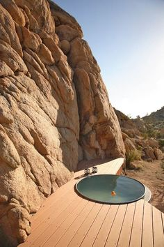 House in Yucca Valley, United States. Dwell published and one of the most unique homes in the Joshua Tree area.  Instagram: @RockReachHouse  Rock Reach House, profiled in the April 2010 issue of Dwell magazine, is a modern steel house perched amidst a pristine high desert setting repl...