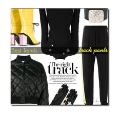 """Track Pants"" by sherieme ❤ liked on Polyvore featuring STELLA McCARTNEY, Marni, Preen, Marques'Almeida, Maison Margiela, trend, track, polyvorecontest, trackpants and besttrend2016"