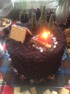 Campfire cake for my son's first birthday!