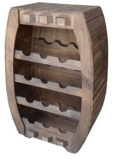 adega campestre de madeira rústica - frete grátis Alcohol Dispenser, Wood Furniture, Wine Rack, Pallet, Projects, Crafts, Design, Pallet Furniture, Wine Bottle Holders