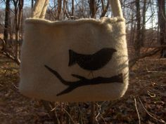 *LOVE* Recycled Sweater Green Felted Wool Purse with by StitchyandKitschy, $25.00