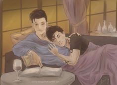 Drawn by weird-things-first ...  alexander 'alec' lightwood, malec, magnus bane, the mortal instruments, shadowhunters