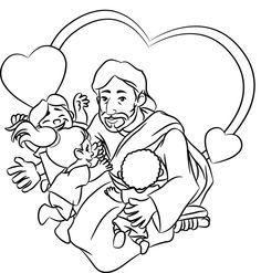 de 7 beste afbeeldingen jesus coloring pages for
