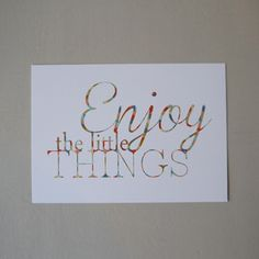 """Image of Carte Postale """"Enjoy the little things"""""""