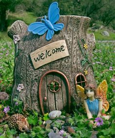 Image detail for -Miniature Tree Fairy House - $18.00