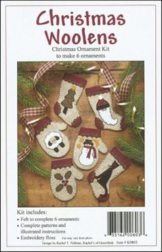 Christmas Woolens Ornament Kit - Set Of Six $13.59