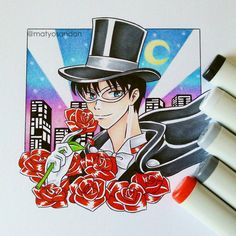 Tuxedo Mask by matyosandon on DeviantArt Tuxedo Mask, Sailor Moon Crystal, Joker, Deviantart, Crystals, Fictional Characters, The Joker, Crystal, Fantasy Characters