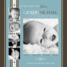 Baby Birth Announcement Photoshop Templates Volume #1 by ashedesign, via Flickr