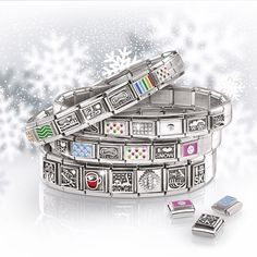 From nominationitalyofficial - The perfect day to hit the slopes! will bring some winter fun even if you're not swishing through powder; Nomination Bracelet, Winter Fun, Charms, Powder, Bring It On, Italy, Snow, Jewellery, Watches