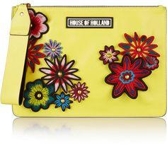 House of Holland Bag of Tricks embellished leather clutch