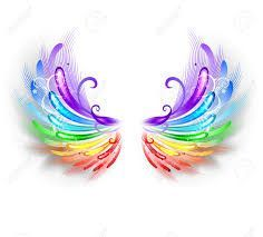 Image result for rainbow colored angel wings