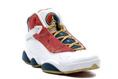 39291312fcc The Air Jordan 6 Rings Championship Pack White Red Wheat Navy 2008 was one  of several other Jordan 6 Rings releases that pay tribute to Jordan s two 3  Peats