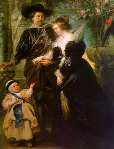with his Wife Hélène Fourment and their Son Peter Paul - (Peter Paul Rubens)