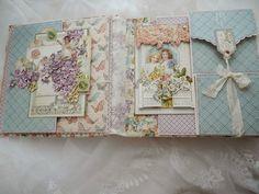"""Ночь, бумага, швейная машинка: Альбом для девочки """"Прогулка в саду"""""""