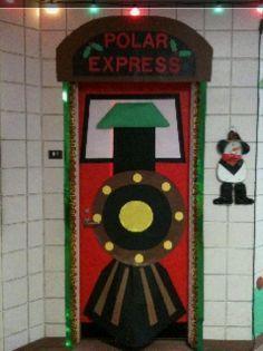 polar express christmas door