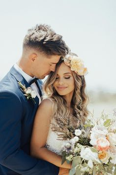 This bohemian chic Malibu wedding is the culmination of 15 months of long distance, and their joyous love is uncontainable. Can I get a witness?! #bohemianchicweddingdecor #macrameweddingbackdrop #beachsideweddings #bridalflowercrowns #ruffledblog