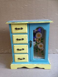 Jewellery box  shabby chic Vintage wooden jewelry box  by artdp