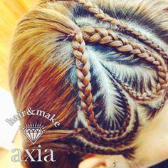 ♡ コーンロウ ハート cornrow hairstyle