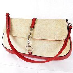 Auth Prada Canvas Ostrich Hand Bag Purse with GUARANTEE Card | eBay