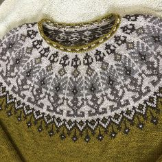Ravelry: Distant shores pullover pattern by Iaroslava Rud Fair Isle Knitting Patterns, Fair Isle Pattern, Knitting Charts, Sweater Knitting Patterns, Knit Patterns, Hand Knitting, Knitting Sweaters, Norwegian Knitting, Icelandic Sweaters