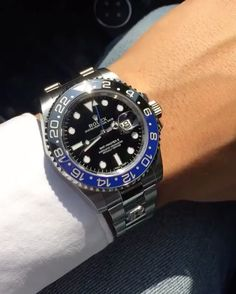 """By @timeapp_milano """"R"""" in white diamonds on a Rolex GMT Master!  Choose your favorite  customized cover at www.timeappmilano.com"""