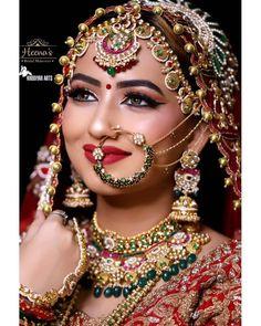 Bridal Makeup Looks, Indian Bridal Makeup, Bride Makeup, Bridal Looks, Wedding Shoot, Wedding Bride, Middle Eastern Makeup, Bridal Portrait Poses, Beautiful Indian Brides