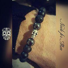 Bracelet Nude for Men Skull, Beaded Bracelets, Nude, Handmade, Men, Jewelry, Fall Season, Jewelery, Hand Made