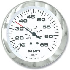 SeaStar Solutions Lido 50-MPH Speedometer Kit, Silver