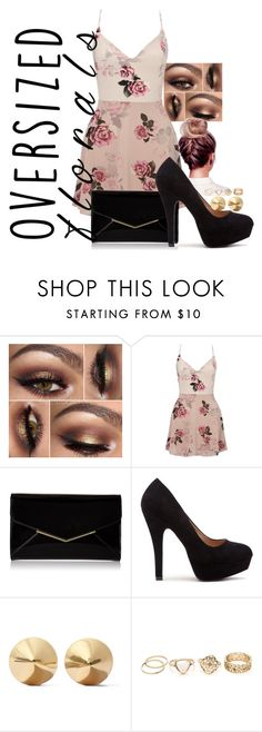 oversized florals by penguinx14 on Polyvore featuring Mode, Lipsy, Furla and Eddie Borgo