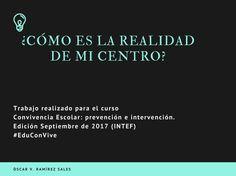 ¿Cómo es la realidad de mi centro? Oscar Valeriano Ramirez Sales. Sales, Learning, Centre