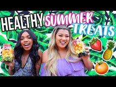 (4) DIY HEALTHY SNACKS + TREATS FOR SUMMER!! 2017 - YouTube