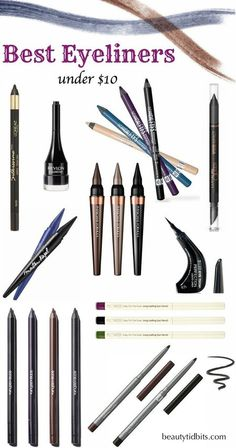 Best Drugstore Eyeliners Under $10 #beautytidbits #bblogger