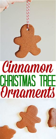 Cinnamon Christmas Tree Ornaments recipe craft from The Country Cook #craft #holidays #Christmas #ideas #kids