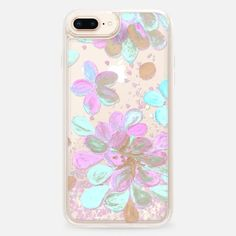 CASETiFY iPhone 8 Plus Glitter case - light floral by Marianna Glitter Phone Cases, Laptop Cases, Mobile Phone Cases, Tech Accessories, Unique Gifts, Original Paintings, Ipad, Electronics, Friends
