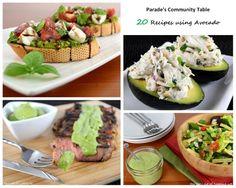 Parade's Community Table ~ 20 Recipes using Avocado