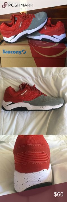 053eabc4ff Saucony Men s Sneakers NEVER WORN NWT Saucony men s sneakers in red gray.  Size…
