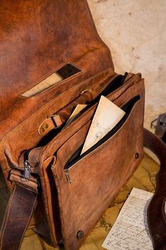 ...hm someday briefcase?...Classic Satchel Bag made from Camel Leather. Sahara Camel Leather Bag, for laptops, books, notes.