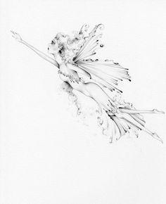 For Shannon Custom Artwork Fairy Drawing Tattoo by ABitofWhimsyArt, $90.00