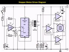 There are many version of stepper motor type, also the many version of stepper motor controller design. This circuit is a general-purpose stepper motor controller that use IC as the driver. Arduino, Satellite Phone, Hobby Electronics, Electronics Components, Electronic Schematics, Electronic Circuit, Power Motors, Schematic Design, Audio Amplifier