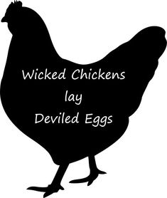 Wicked Chickens Lay Deviled Eggs wreath sign