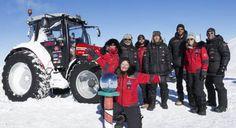 Трактор достигна до Южния полюс