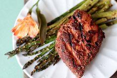 grilled blackened tuna steaks.