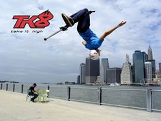 TK8 Pogostick Pro Air // 2015 Backflip de Dmitry avec son pogo stick !