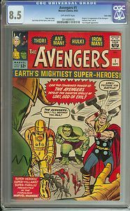 AVENGERS #1 CGC 8.5 OW PGS ORIGIN AND 1ST APPEARANCE OF THE AVENGERS TWIN CITIES | eBay